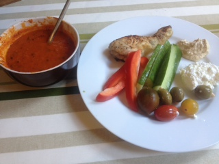 Tomato Soup – side of chicken and veg you say?!