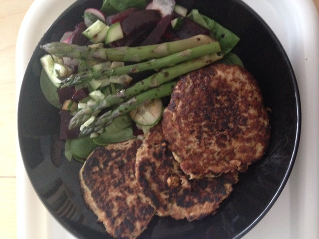 Tuna Fritters with side of Veg