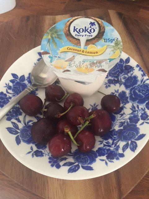 Dairy free – Coconut Yoghurt and Cherries
