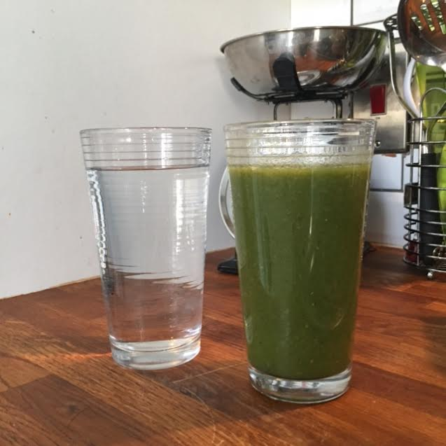 A nice green juice to start the day