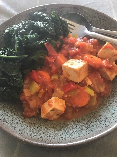 Miso and Tofu with Steamed Vegetables