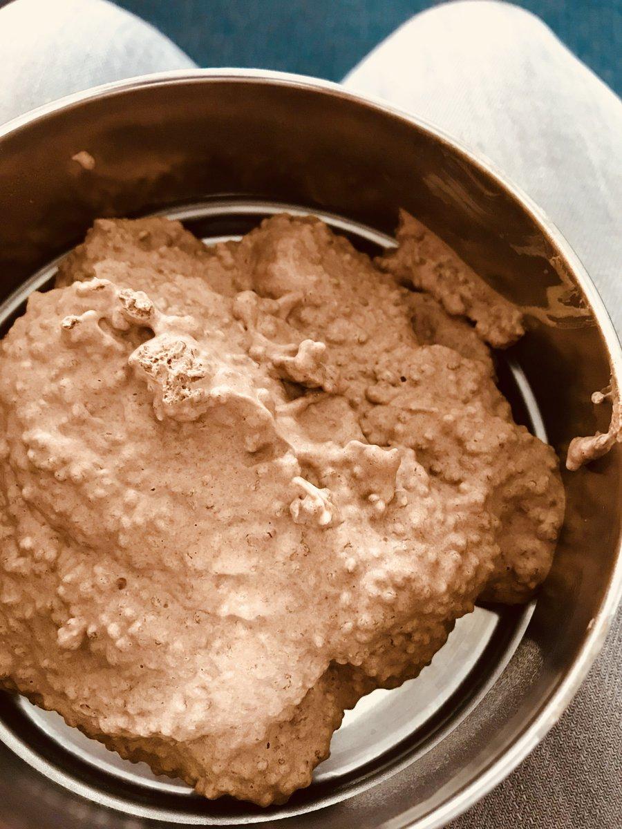 Chia seed, banana and cocoa pudding